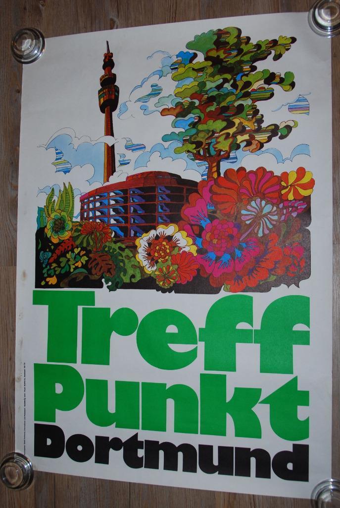 1973 Treffpunkt Dortmund travel poster 2