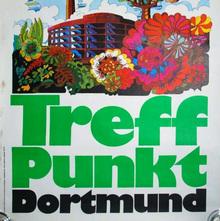 1973 Treffpunkt Dortmund travel poster