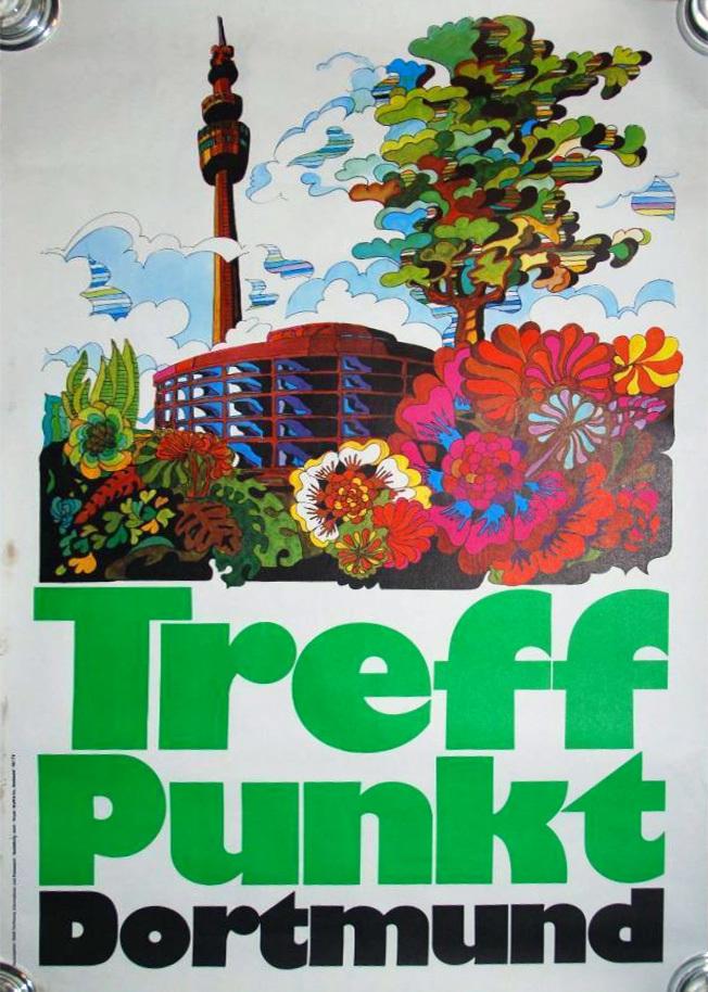 1973 Treffpunkt Dortmund travel poster 1