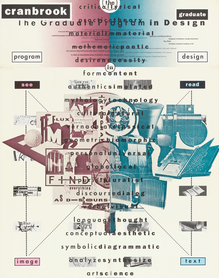 """Cranbrook Graduate Program in Design"" poster"