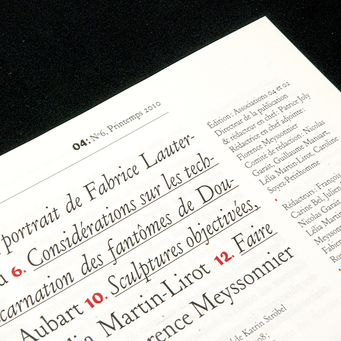 ZéroQuatre, nº6, Printemps 2010 2
