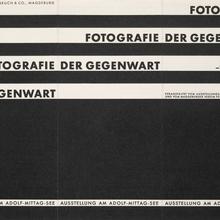 """""""Fotografie der Gegenwart"""" leaflet"""