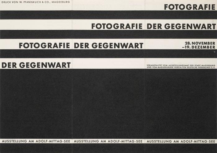 """""""Fotografie der Gegenwart"""" leaflet 1"""