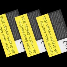 Central Saint Martins BA Graphic Design degree show