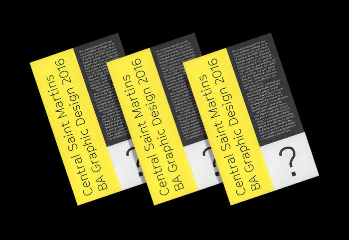 Central Saint Martins BA Graphic Design degree show 5