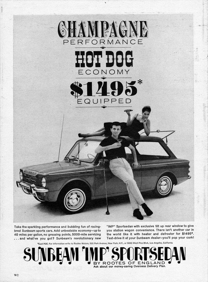 1964 Sunbeam Imp Sportsedan ad