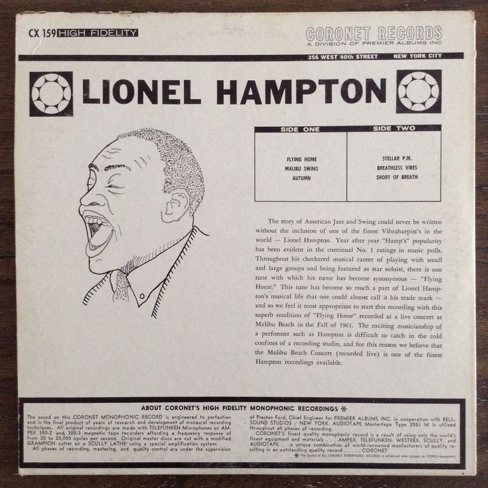 Lionel Hampton - Lionel Hampton (Coronet CX 159) 2