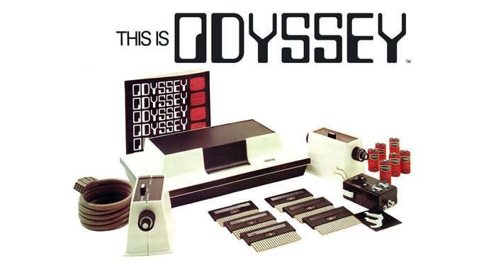 Magnavox Odyssey game console, logo, packaging 1