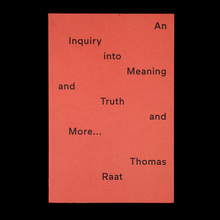 <cite>An Inquiry into Meaning and Truth</cite>