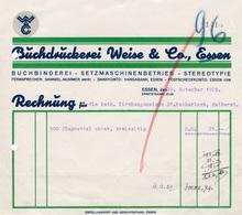 Buchdruckerei Weise & Co. invoice, 1929
