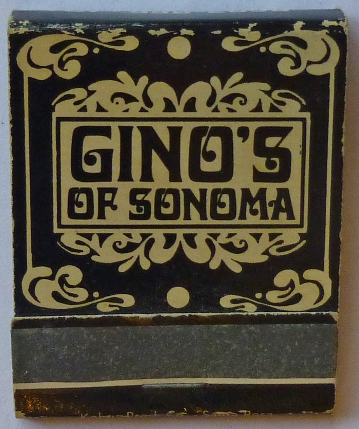 Gino's of Sonoma matchbook 1