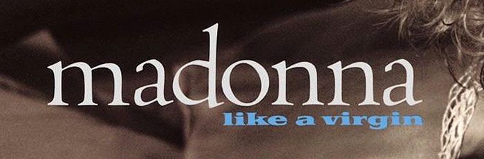 Madonna – Like A Virgin album art 2