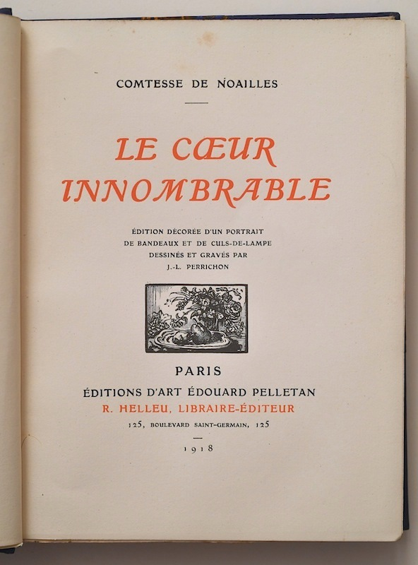 Le Cœur innombrable by Anna de Noailles