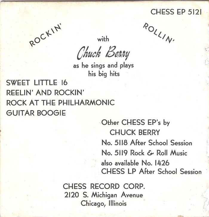 Sweet Little Sixteen EP by Chuck Berry 2
