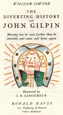 <cite>The Diverting History of John Gilpin</cite> by William Cowper, Ronald Davis edition