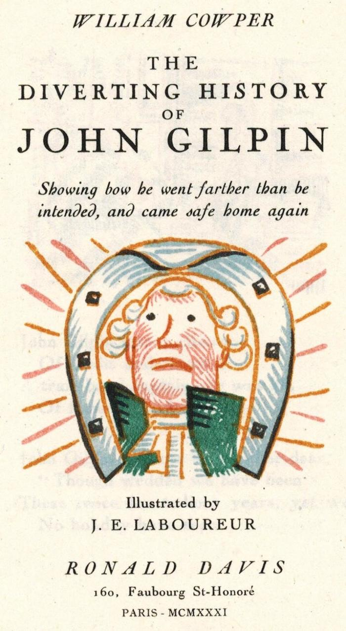 The Diverting History of John Gilpin by William Cowper, Ronald Davis edition 1