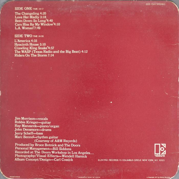 The Doors – L.A. Woman album art 2