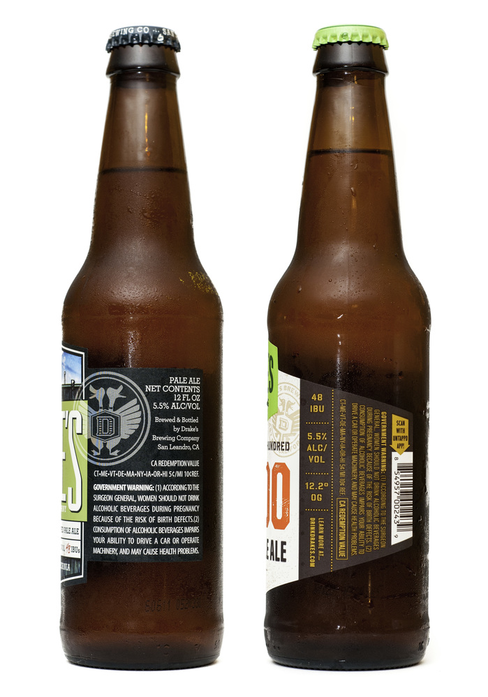 Drake's Brewing Co. label redesign 2