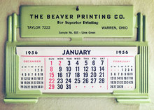 The Beaver Printing Co. 1956 Advertising Calendar