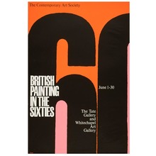 <cite>British Painting in the Sixties</cite> poster