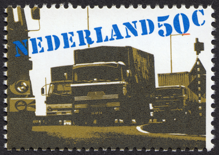 """""""Verkeer en vervoer"""" – Dutch transportation stamps 1"""