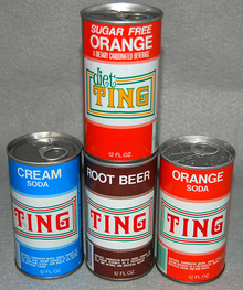Ting soda cans