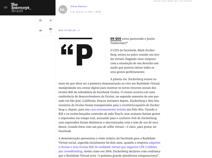 The Intercept website (2016) 2