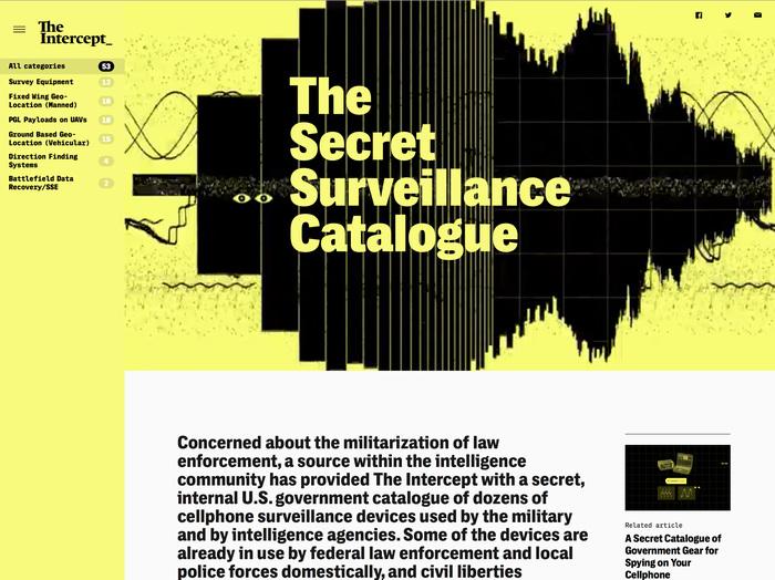 The Intercept website (2016) 5