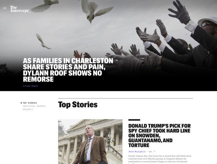 The Intercept website (2016) 1