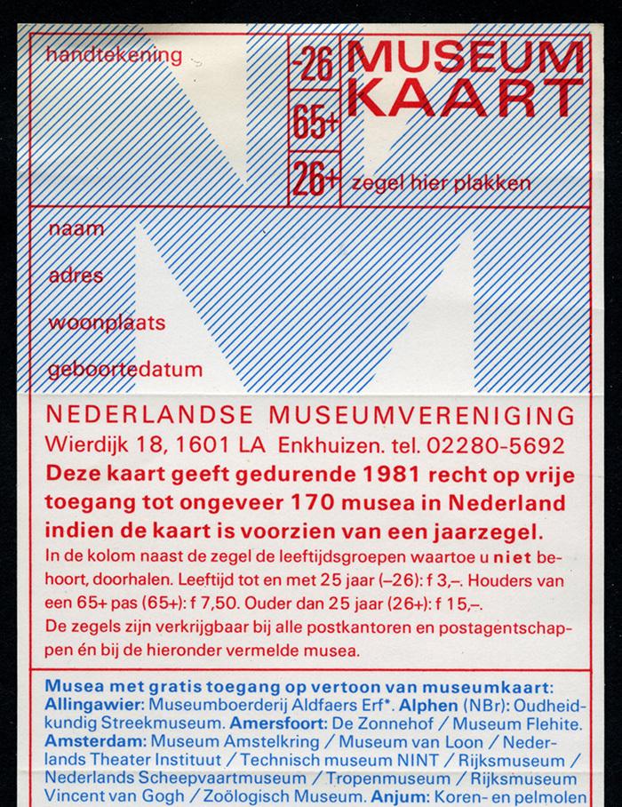 Museumkaart 1981, Nederlandse Museumvereniging 2