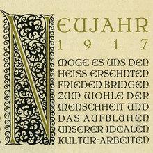 """Typographische Gesellschaft zu Frankfurt/Main, New<span class=""""nbsp""""></span>Year wishes 1917"""