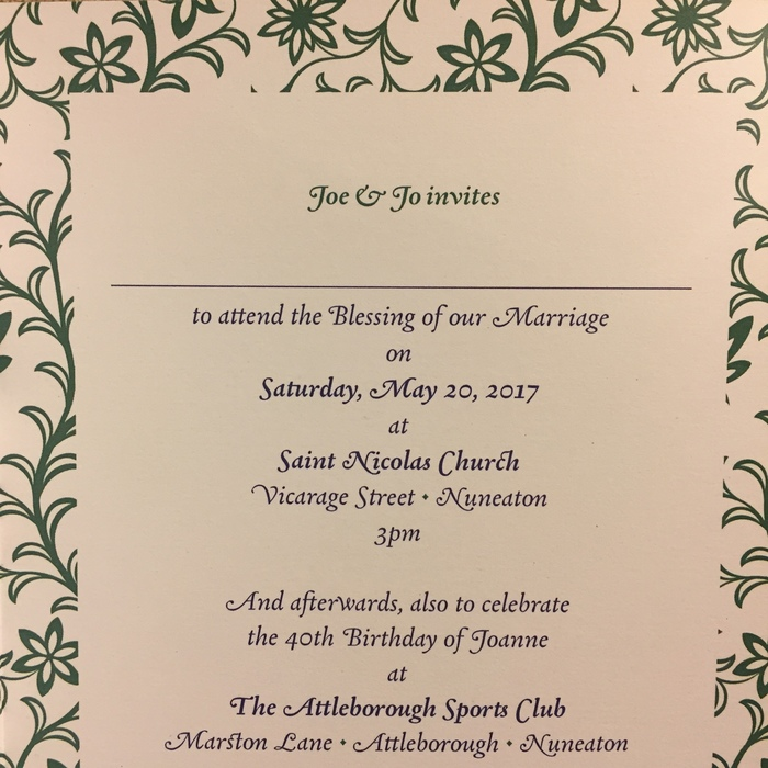 Joe & Jo wedding blessing invitation 2