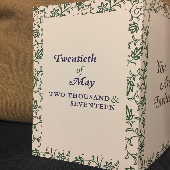 Joe & Jo wedding blessing invitation 5