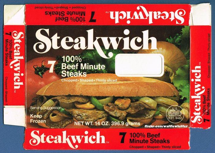 Steakwich packaging