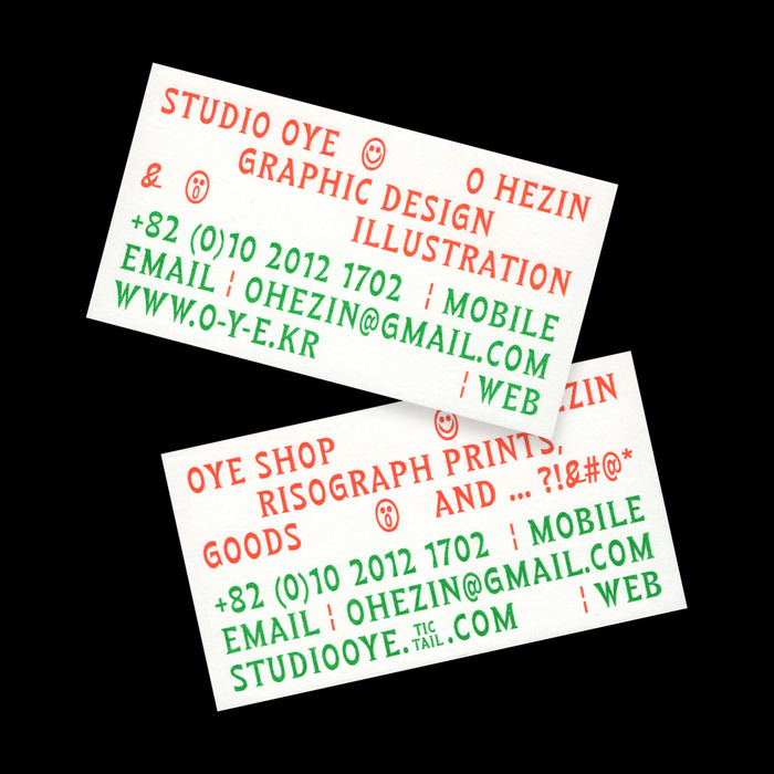 Studio OYE business card