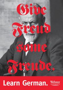 """Learn German"" posters, Webster University"