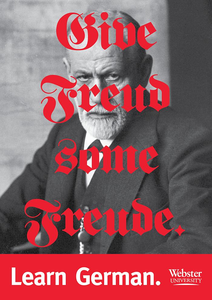 """Learn German"" posters, Webster University 1"