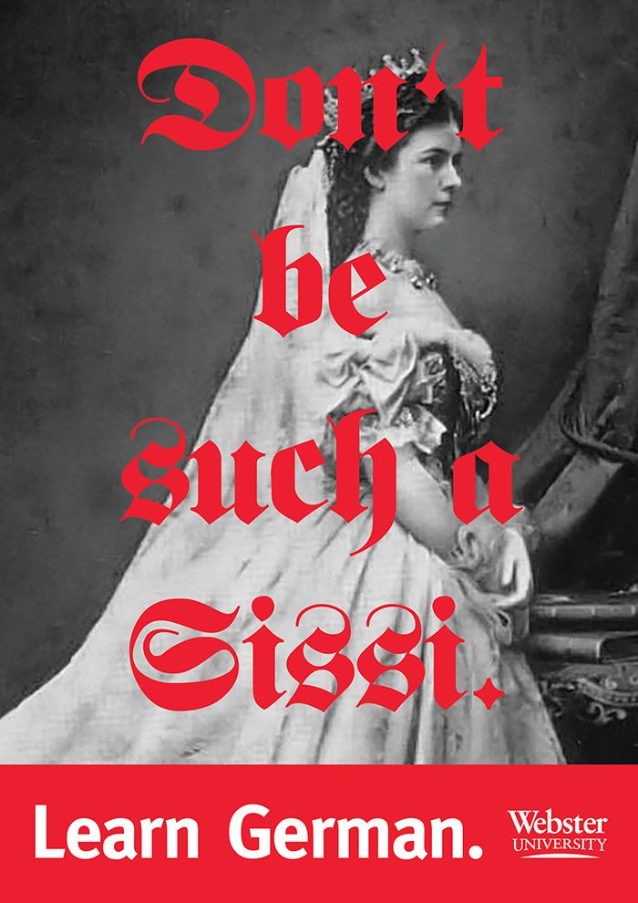 """Learn German"" posters, Webster University 3"