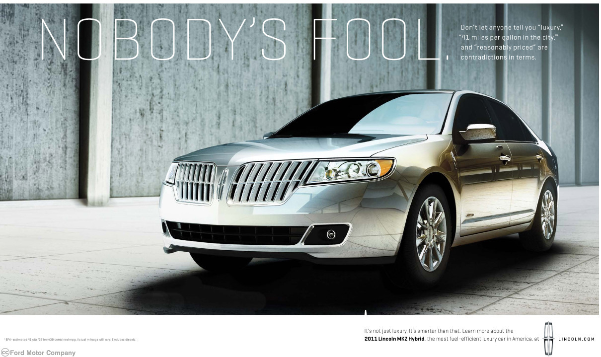 Lincoln Motor Co Marketing 2010 Fonts In Use