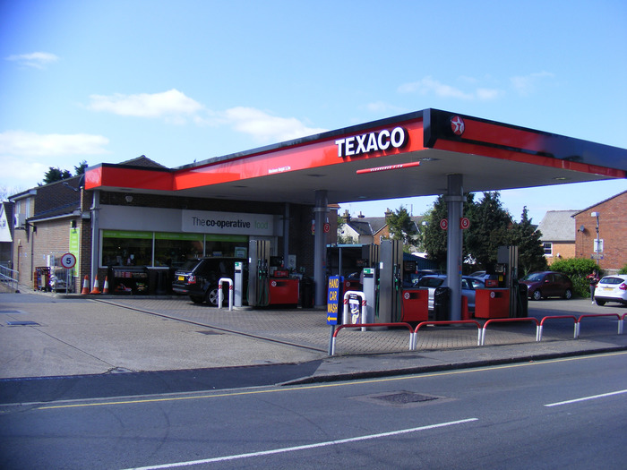 Texaco service station in Chelmsford, UK.