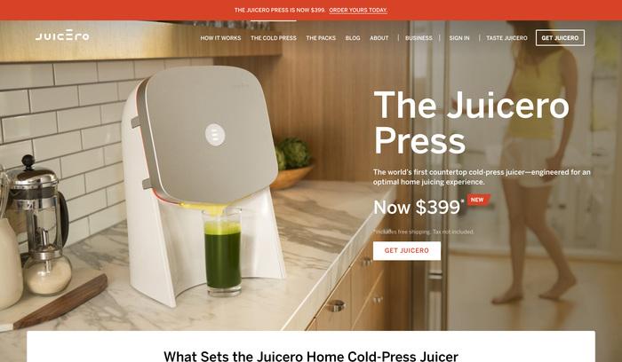 Juicero website 2