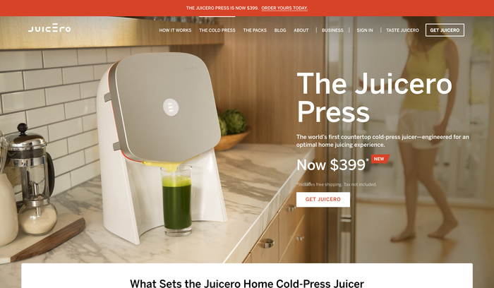 Juicero website 2
