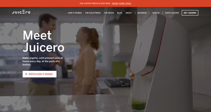 Juicero website 1