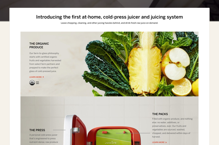 Juicero website 3