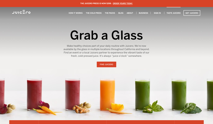 Juicero website 4