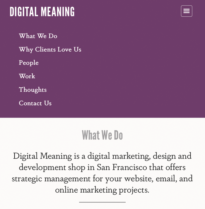 Digital Meaning website 1
