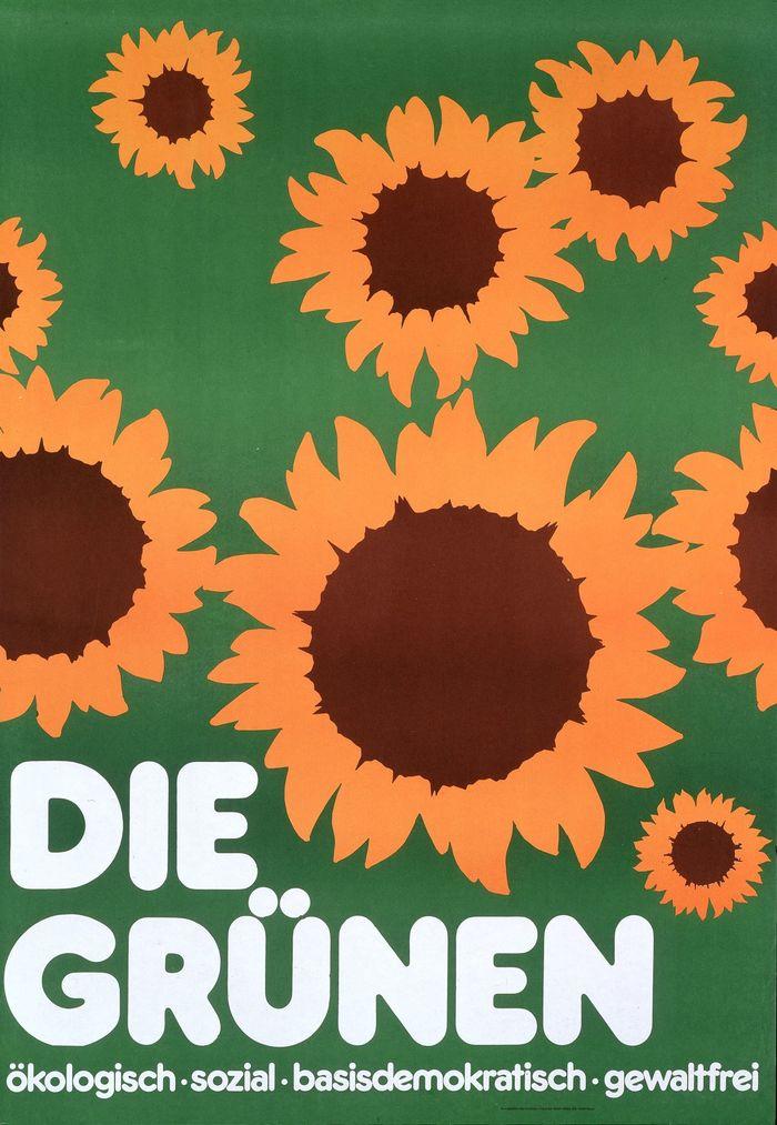"""""""Die Grünen"""" poster, 1983"""