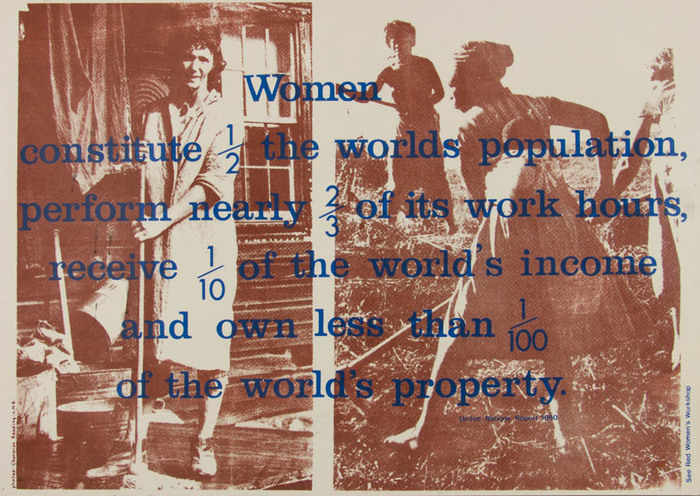 See Red poster: women's work