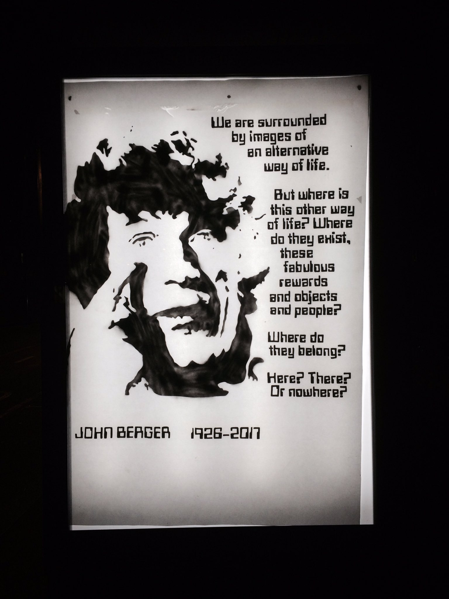 John Berger quotes - Fonts In Use