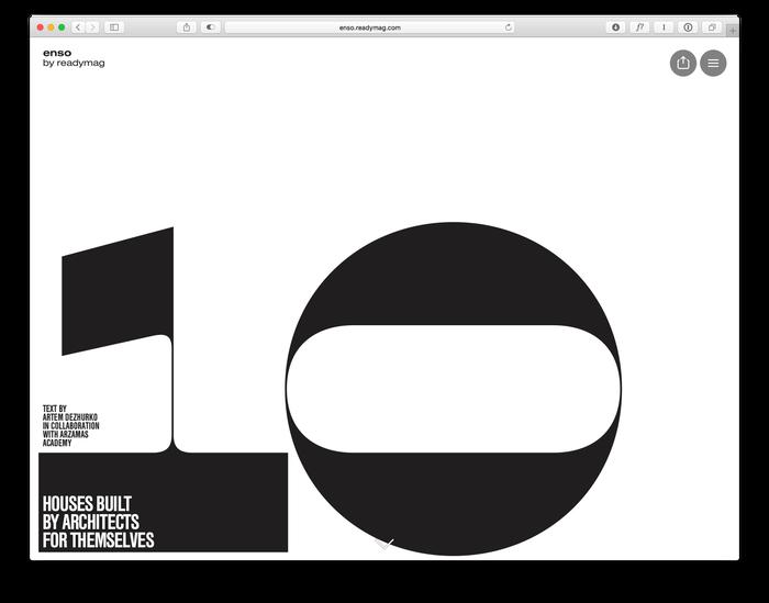 Enso magazine: Architects' Own Houses 1